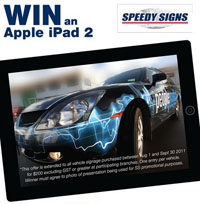 Vehicle Graphics from $200 and be in to win an iPad2!