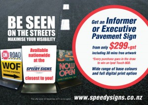 Be Seen With Pavement Signage from Speedy Signs