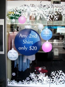 Window Signs For Christmas and Summer Sales!