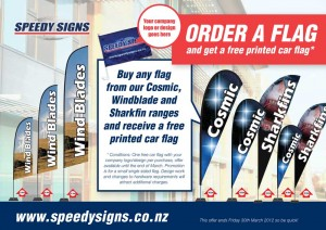 Full colour flags are a great way to attract attention to your business or product.