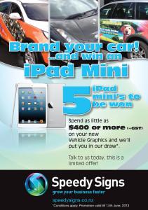 Brand Your Car and Win an iPad mini