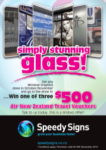 October and November Window Graphics Promotion!