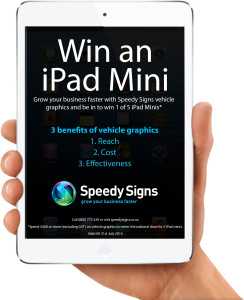 Hurry, 2 weeks left to win an iPad mini in our vehicle graphics promo!