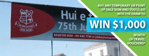 Temporary & Point of Sale Signs Promotion