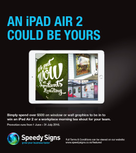 An iPad Air 2 could be yours